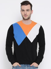 United Colors of Benetton Black Colourblocked Sweatshirt