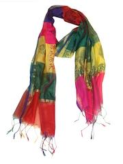 Dupatta Bazaar Multicoloured Printed Art Silk Dupatta