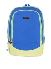 Bags.R.us Unisex Blue & Lime Green Backpack