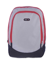 Bags.R.us Unisex Grey & Black Backpack