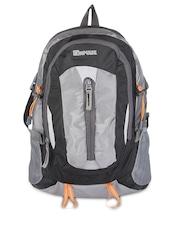 Impulse Unisex Grey & Black Backpack