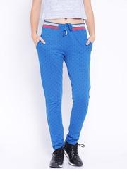 HARVARD Blue Printed Track Pants