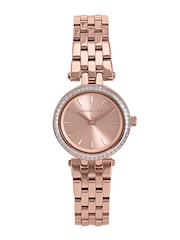 Michael Kors Women Rose Gold-Toned Dial Watch MK3366I