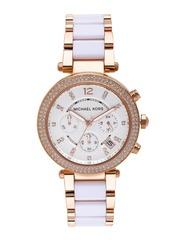 Michael Kors Women Chronograph White Dial Watch MK5774I