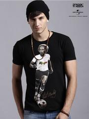Kook N Keech Music Black Bob Marley Print T-shirt