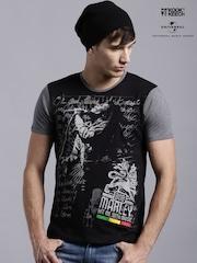 Kook N Keech Music Black Bob Marley Printed T-shirt
