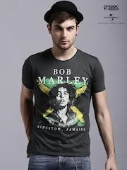 Kook N Keech Music Charcoal Grey Bob Marley T-shirt