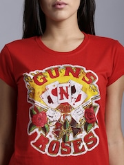 Kook N Keech Music Red Printed T-shirt