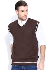 Spunk Brown Sleeveless Sweater