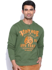 Spunk Green Printed Sweatshirt