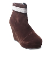 Nell Women Brown Heeled Boots