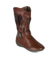 Kielz Women Brown Flat Boots