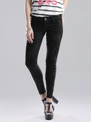 GUESS Black Washed Ultra Skinny Fit Jeans