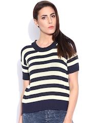 Lee Navy & Off-White Striped Sweater