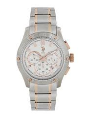 U.S. Polo Assn. Men White Dial Chronograph Watch USAT0105