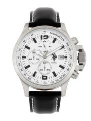 U.S. Polo Assn. Men White Dial Chronograph Watch USAT0124