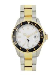 U.S. Polo Assn. Men White Dial Watch USAT0133
