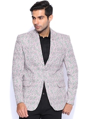 Blazer Quarter Multicoloured Printed Single-Breasted Blazer