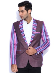 Blazer Quarter Brown Linen Blazer
