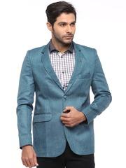 Blazer Quarter Blue Linen Blazer