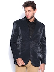 Blazer Quarter Navy Single-Breasted Blazer