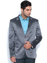 Blazer Quarter Grey Striped Blazer