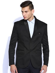 Blazer Quarter Black Single-Breasted Blazer