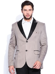 Blazer Quarter Taupe Single-Breasted Blazer