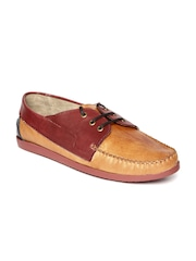 Arden by Knotty Derby Men Tan Brown Leather Casual Shoes