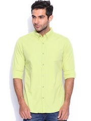 United Colors of Benetton Lime Green Casual Shirt