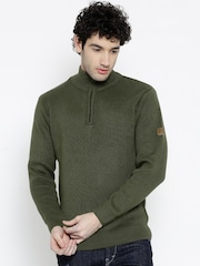 SPYKAR Olive Green Sweater