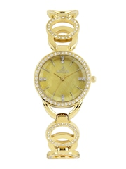 Westar Women Pearly Yellow Dial Watch 0449GPN118