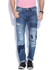 Lee Blue Powell Fit Distressed Jeans