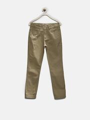 YK Boys Khaki Casual Trousers