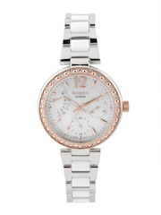 CASIO Women Silver-Toned Dial Watch SX159