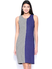 Van Heusen Woman Black Printed Sheath Dress