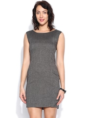 Van Heusen Woman Charcoal Grey Bodycon Dress