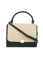Alvaro Castagnino Black & Cream-Coloured Handbag