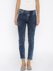 Harvard Women Blue Mid-Rise Acid Washed Look Jeans