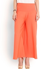 Trend Arrest Orange Palazzo Trousers