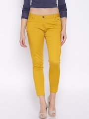 Fame Forever by Lifestyle Mustard Yellow Casual Trousers