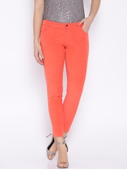 Ginger by Lifestyle Coral Red Corduroy Trousers