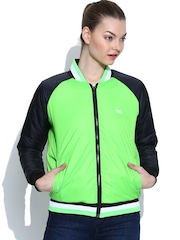 Pure Play Lime Green Huron Bomber Jacket