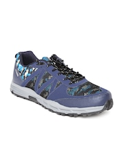 Reebok Men Blue Camo Trek Camouflage Print Hiking Shoes