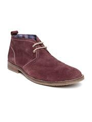 Bata Men Burgundy Casual Shoes