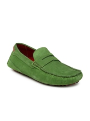 Bata Men Green Loafers