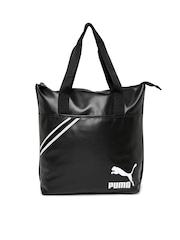 PUMA Black Archive Shopper Tote Bag