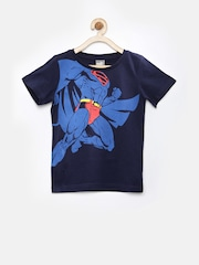 PUMA Boys Navy Superman Print T-shirt