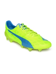 PUMA Men Neon Green & Blue evoSPEED SL Football Shoes