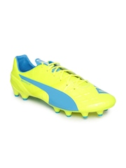 Puma Men Fluorescent Green evoSPEED 1.4 FG Football Shoes